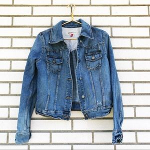 Mossimo Denim Distressed Jean Jacket